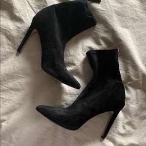Saks Fifth Avenue heeled booties suede